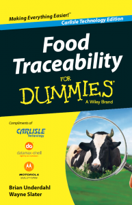 Traceability for Dummies